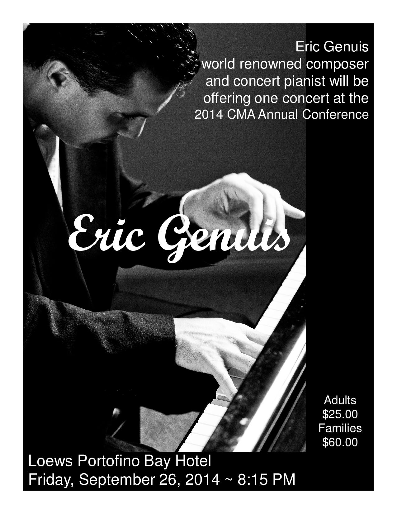 Eric Genuis, Pianist