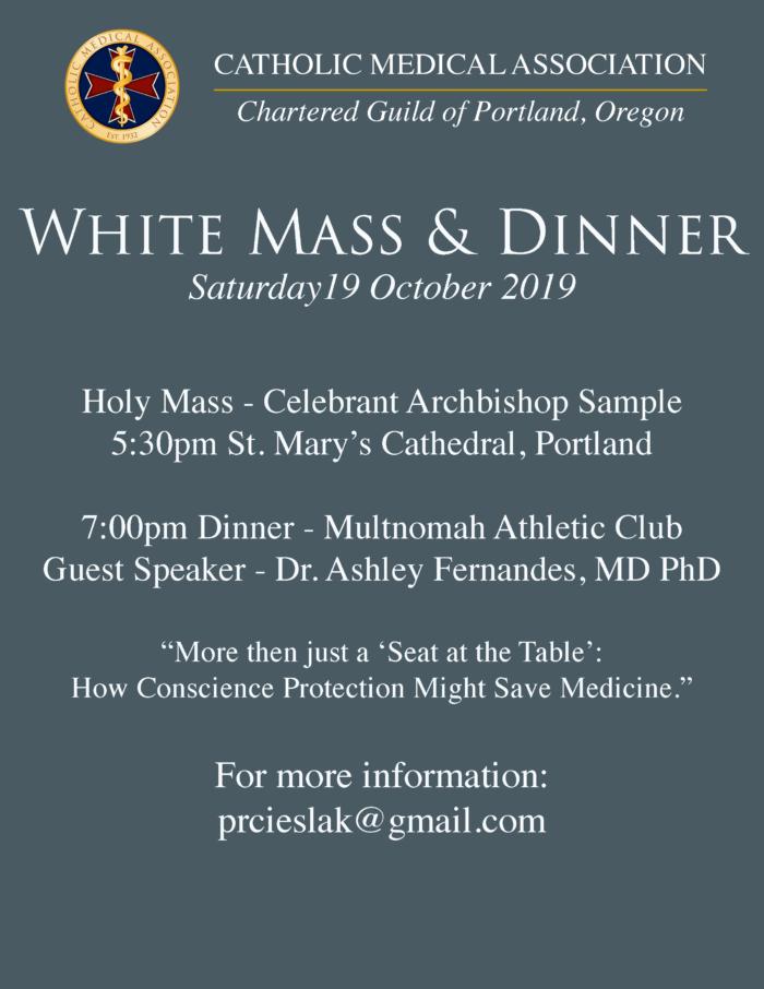 White Mass & Dinner - CMA Portland Guild - Catholic Medical